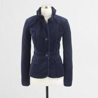 Factory tailored velvet blazer