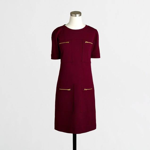 Factory zipper ponte dress
