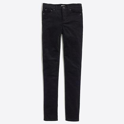 Midrise skinny jean in velvet