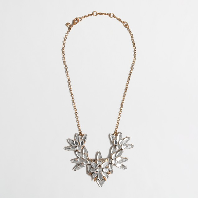 Factory layered crystal necklace