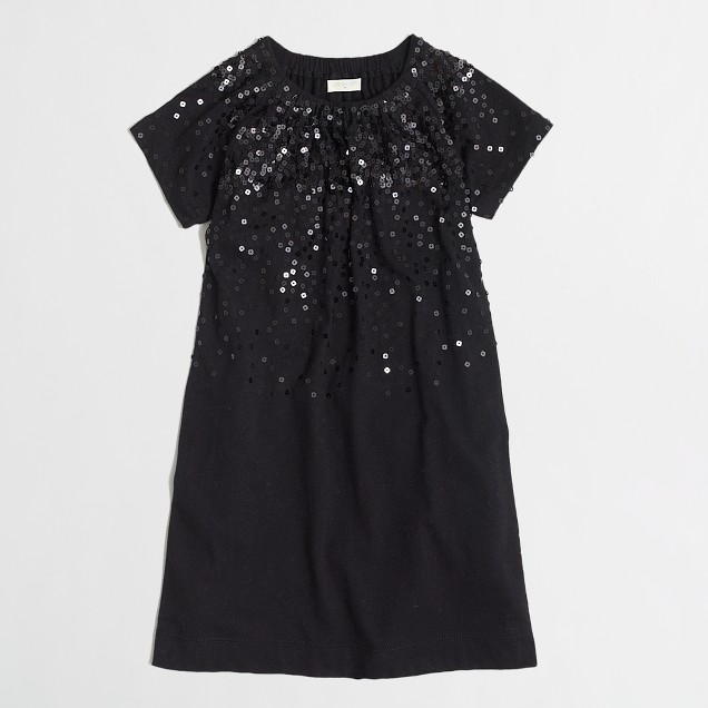Factory girls' sequin dress