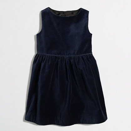Factory girls' velvet dress