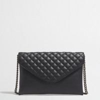 Factory quilted envelope clutch