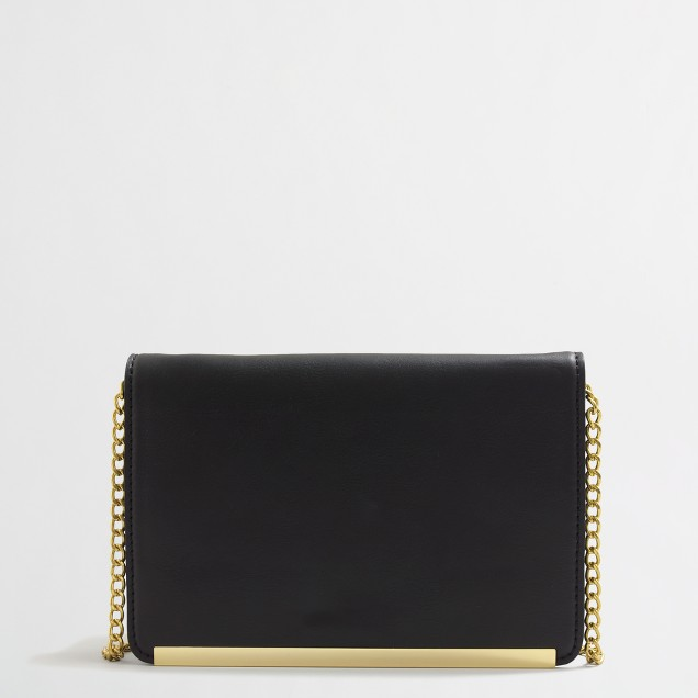 Factory chain strap clutch