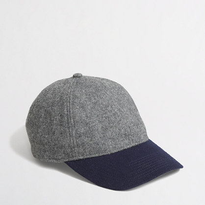 Factory colorblock wool baseball cap