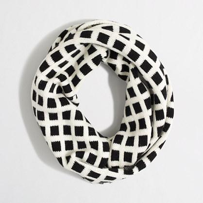Windowpane infinity scarf