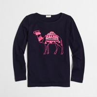 Factory girls' long-sleeve camel keepsake tee