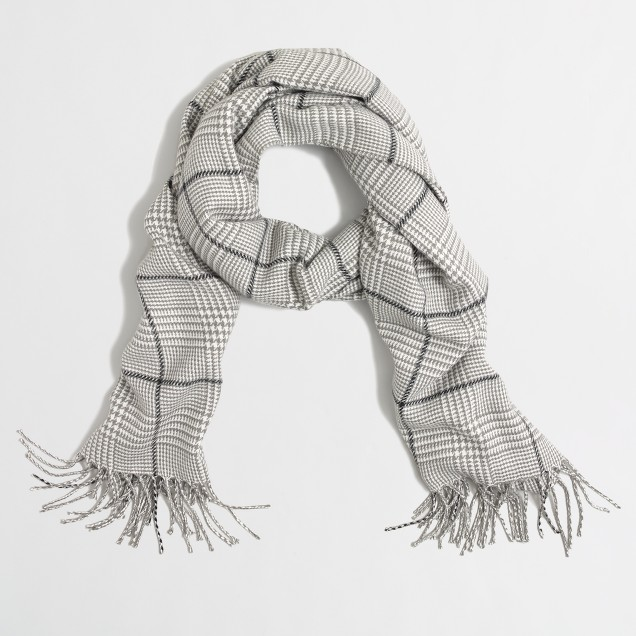 Glen plaid scarf