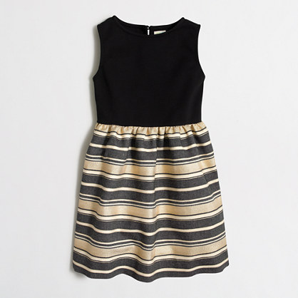 Girls' shiny-striped dress