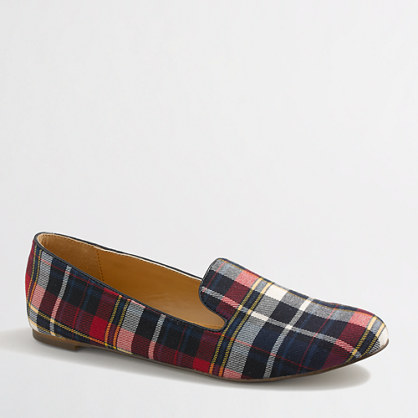 Factory Addie plaid loafers