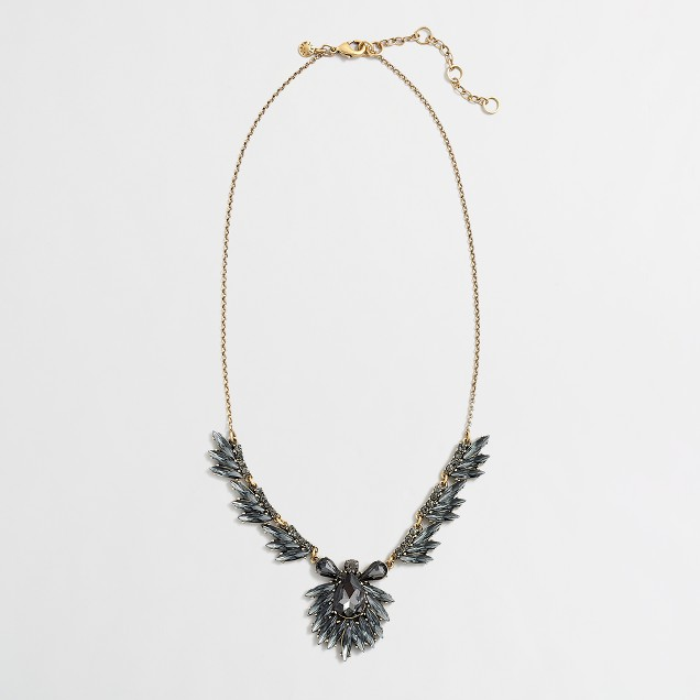 Factory crystal feathers necklace