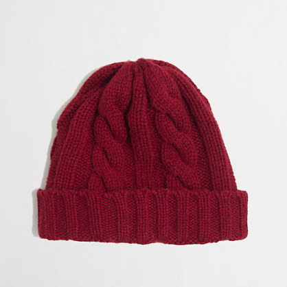 Factory marled cable-knit hat