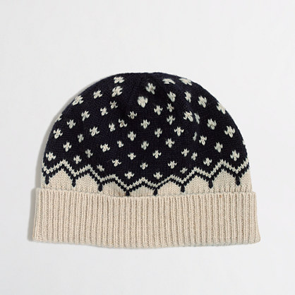 Factory cross-dot knit hat