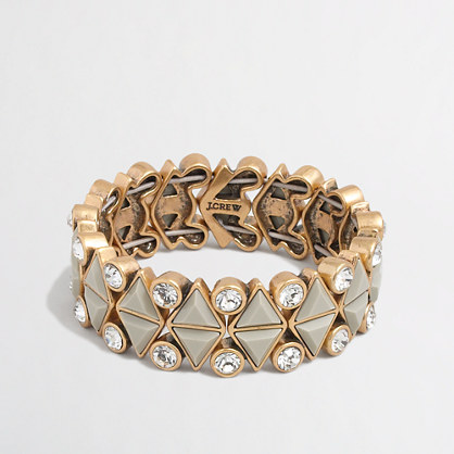 Factory stone and crystal repeat bracelet