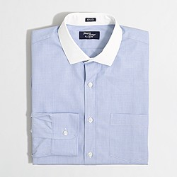 Factory Thompson dress shirt in end-on-end