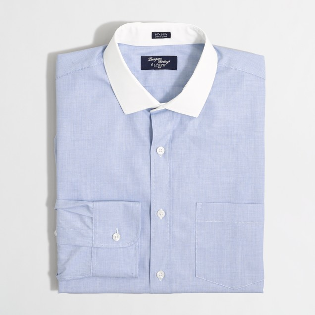 Tall Thompson dress shirt in end-on-end