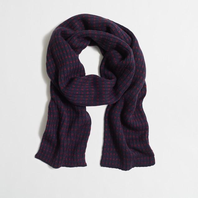 Dot knit scarf