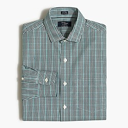 Factory wrinkle-free Voyager dress shirt in mini-gingham