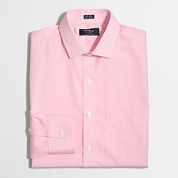 Wrinkle-free Voyager dress shirt in mini-gingham