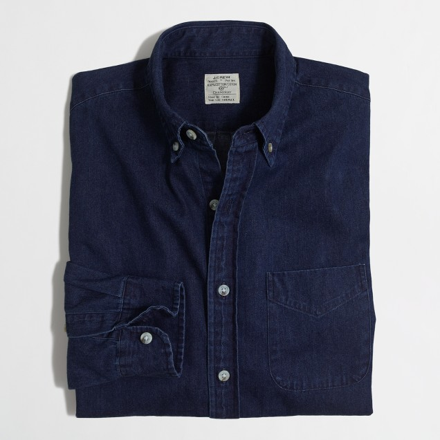 Indigo one-pocket shirt