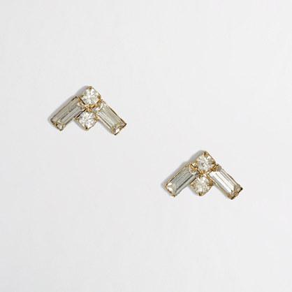 Factory crystal arrow earrings