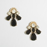Factory crystal and stone trio earrings