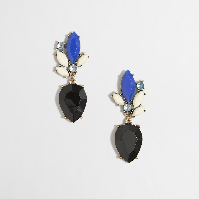 Factory drop petal earrings