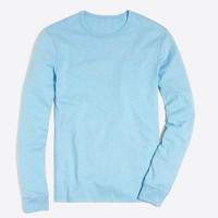 Long-sleeve textured cotton T-shirt