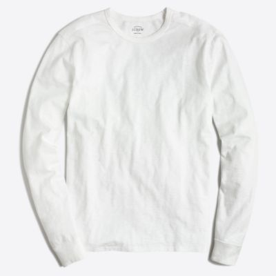 Long-sleeve textured cotton T-shirt factorymen new arrivals c
