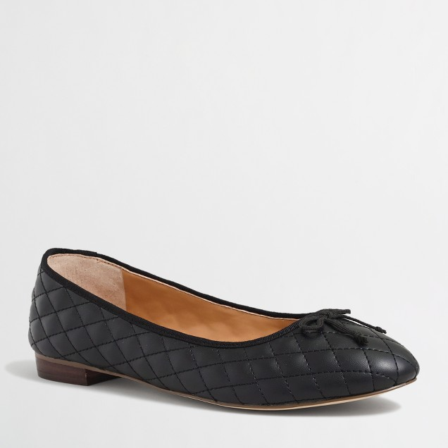 Factory quilted uptown ballet flats