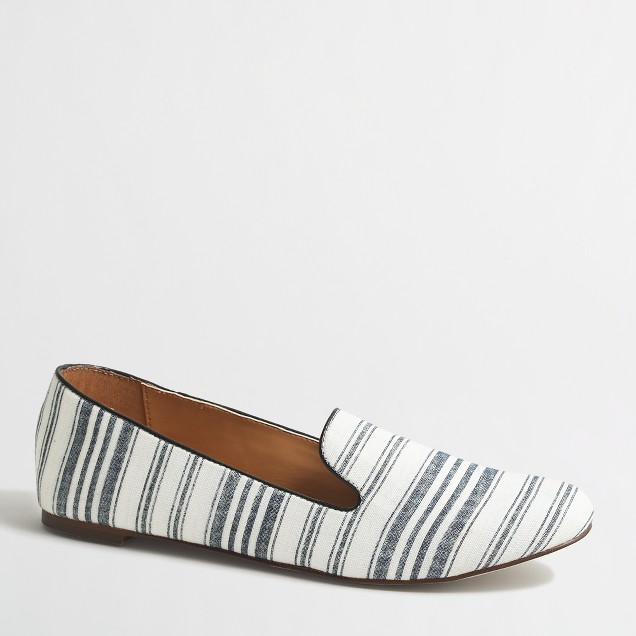 Addie multi-stripe loafers