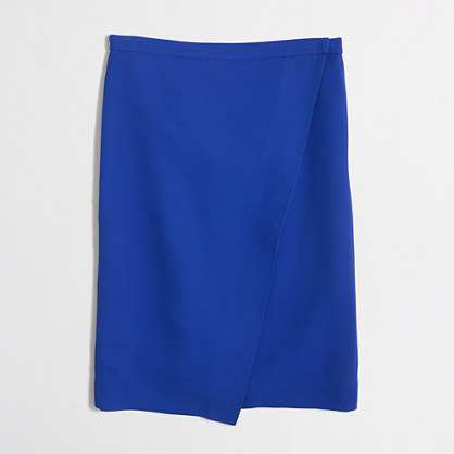 Wrap pencil skirt in crepe