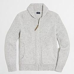 Donegal full-zip cardigan sweater