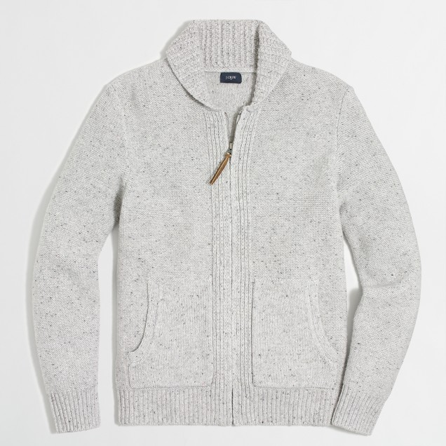 Donegal full-zip cardigan sweater