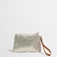 Factory girls' glitter wristlet pouch