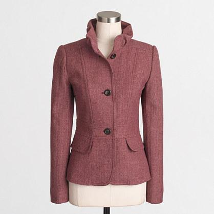 Tailored tweed blazer