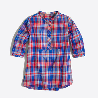 Girls' flannel tunic