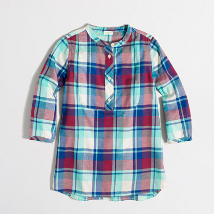 Girls' flannel tunic