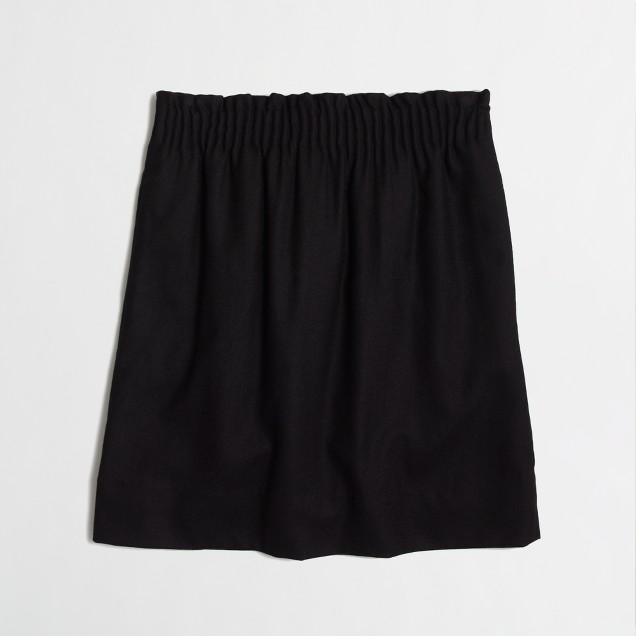 Factory pleated mini in wool blend