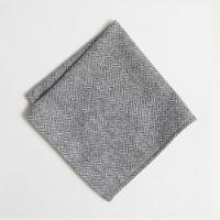 Wool herringbone pocket square