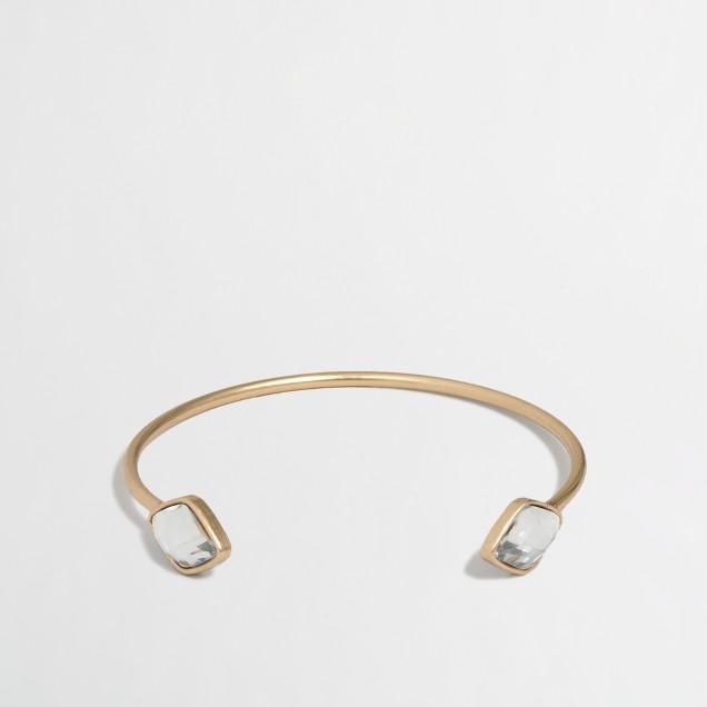Factory geo stone cuff bracelet