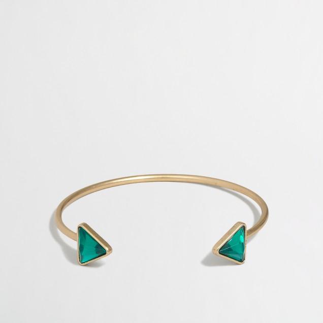 Factory triangle stone cuff bracelet