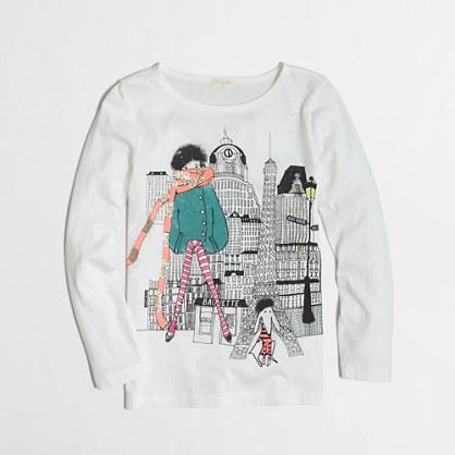 Factory girls' long-sleeve girl in paris keepsake tee