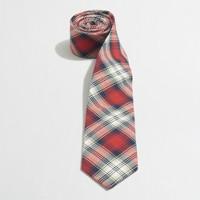 Factory oxford plaid tie