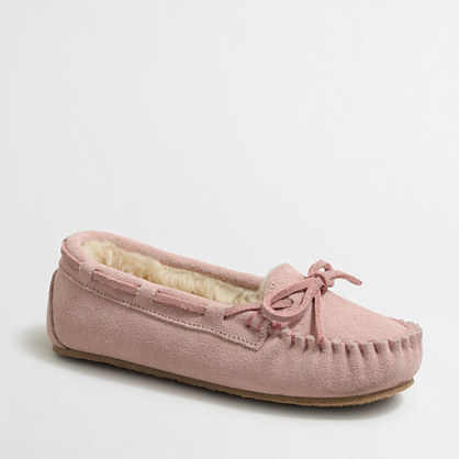 Girls' suede slippers