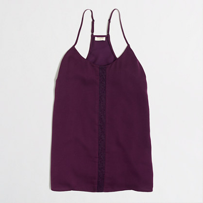 Factory lace-panel racerback cami