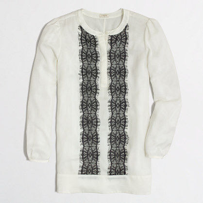 Factory lace-panel blouse