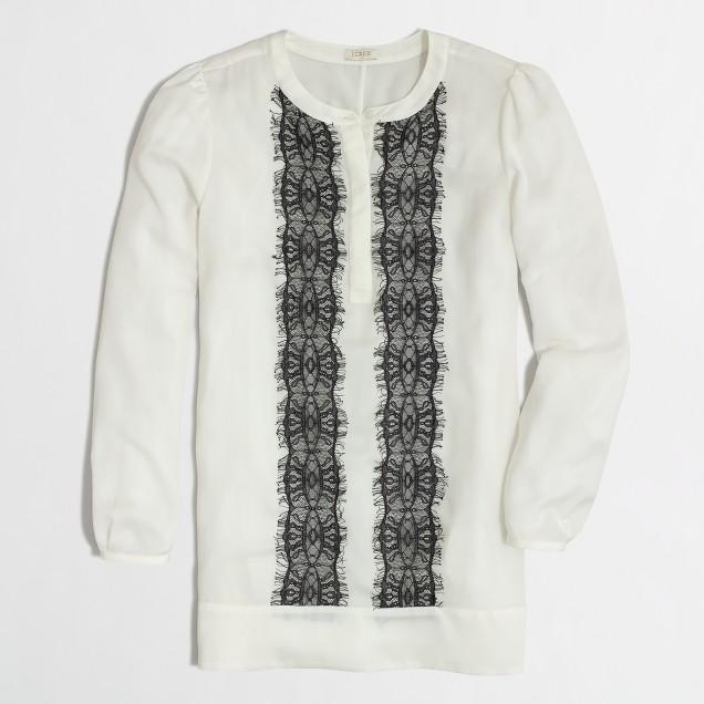 Factory lace-panel blouse