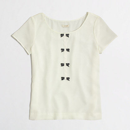 Factory sequin bows tee