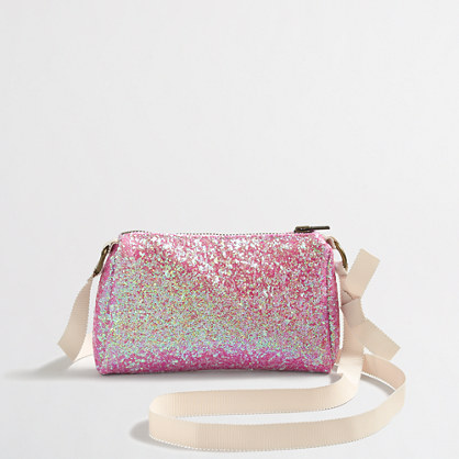 Girls' glitter purse